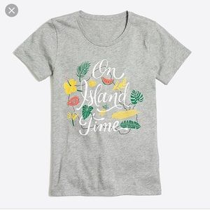 "J Crew Factory ""On Island Time"" Collector Tee"